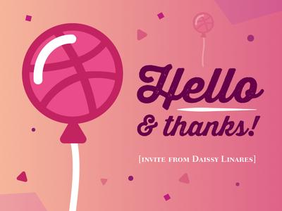 HELLO! illustrator warm balloons typography type vector graphic dribbble party design script debut