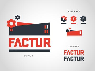 Factur Branding flat vector design graphic design submarks typography logotype branding logo