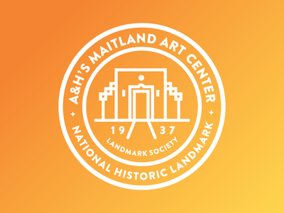 National Historic Landmark (Exploration) flat orange type brand icons icon branding logo design line