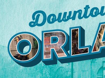 Downtown Orlando Typography art florida orlando flat vector design graphic design typography logotype branding logo retro