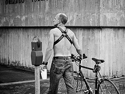 Gay Pride man photo composition photography white black black and white greyscale