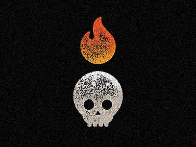 Hot Sauce (Icon / Imagery) black color logo fire skull illustrator vector graphic dribbble design branding
