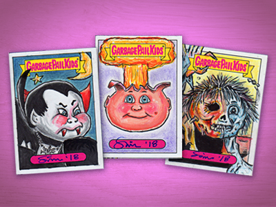 Garbage Pail Kids / 2018 Series One: We Hate the 80's cards painting drawing retro 80s paint marker ink pencil illustrator dribbble illustration