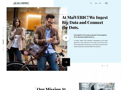 MaiVERIC Landing page clean design clean ui website design website landing page ui ui design web ui landing page webdesign ux web site landing web design ui