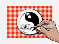 Breakfast yin and yang