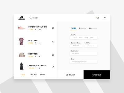 Daily UI 002 - Checkout Page checkout ido laish 002 daily ui adidas