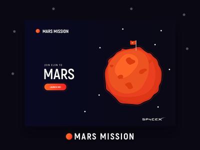 Daily UI 003 - Landing Page ido laish spacex mars landing page daily ui