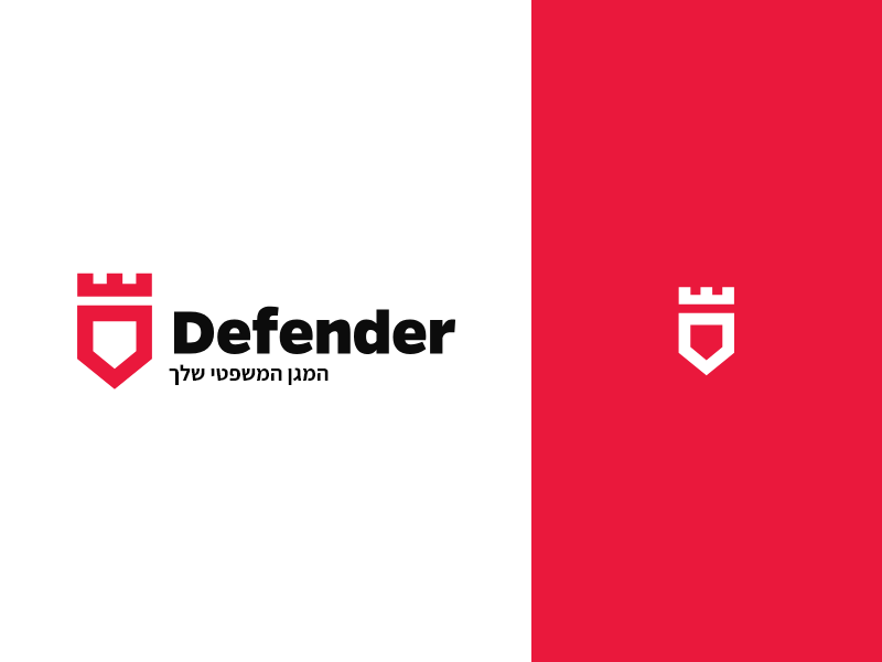 Defender insurance security knight armour shield defender logo branding