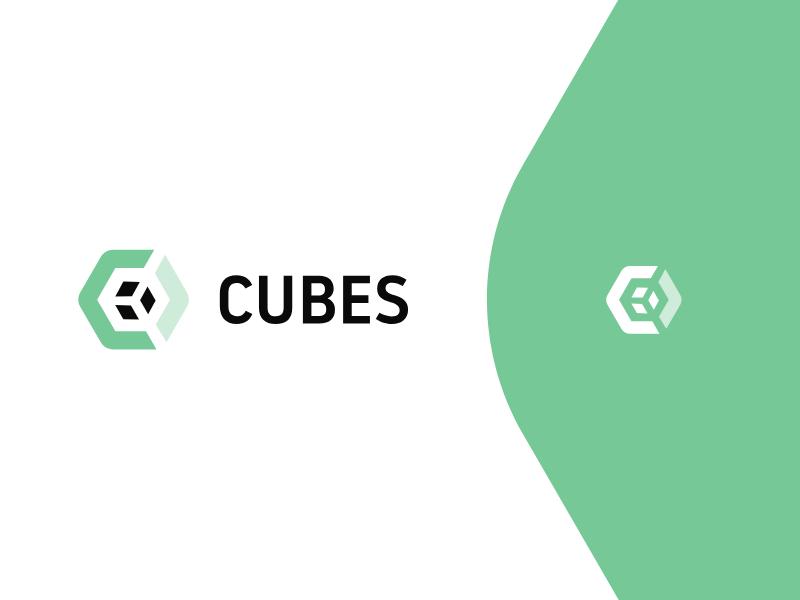 Dribbble Shot cubes cube enviroment green architecture logo architecture architect branding