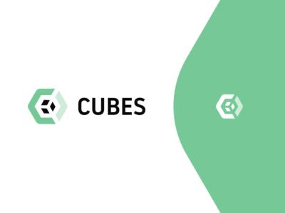 Cubes cubes cube enviroment green architecture logo architecture architect branding