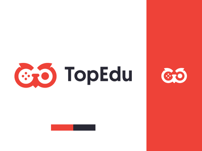 TopEdu Games logo joystick education owl branding gaming