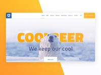 Cooling Equipment Service website concept