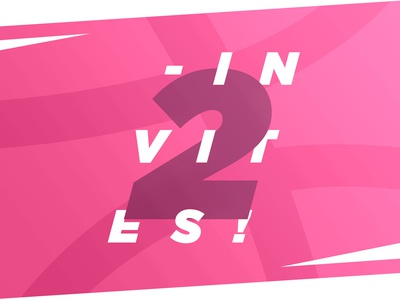 2 Invites for Dribbble