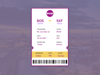 Daily UI Challenge - Day #024 Boarding Pass