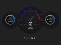 Daily UI Challenge - Day #034 Car Interface