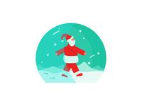 santa character illustrator 2d portrait vector illustration