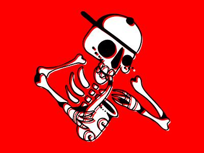 Mojiganga! saxo ska punk rock cap logo hardcore musician skeleton saxophone skull music