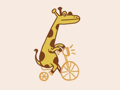 cycling giraffe
