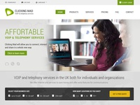 Homepage of Clickingmad Company