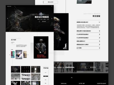 Concept Art Online Course Website website course online