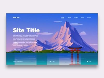 Illustration Landing Page illustration landing