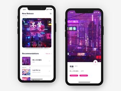 DailyOneHour#2 neon music ios