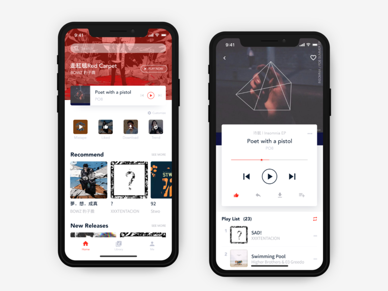 quick concept of YT Music redesign redeisgn youtube yt music music
