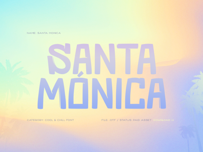 Santa Monica typography type design typeface font design font chill cool