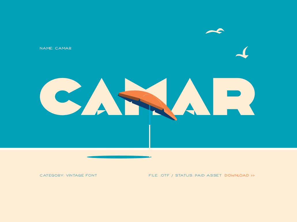 Camar vintage font type design typeface typography font design font