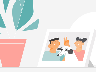 Pet Love illustration 2d studiotale explainer video home xiaomi animation character design dog