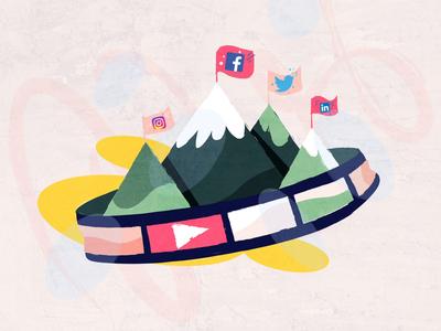 Social Media Platforms studiotale designs 2d gif video socialmediamarketing instagram linkedin twitter facebook platforms socialmedia