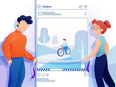 Instagram Video Length studiotale illustration animation design 2d cycling length video instagram post