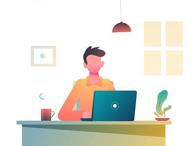 Leto - Less to do! laptop coffeemug plant studiotale explainervideo illustration design character animation character leto