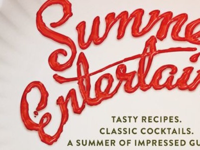 Summer Entertaining type script picnic summer ketchup photoshop