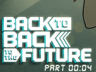 Back To Back To The Future Title Design monoweight title design graphic novel