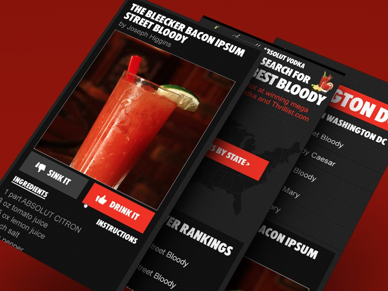 Thrillist's Search for America's Best Bloody mobile web campaign marketing responsive dark thrillist