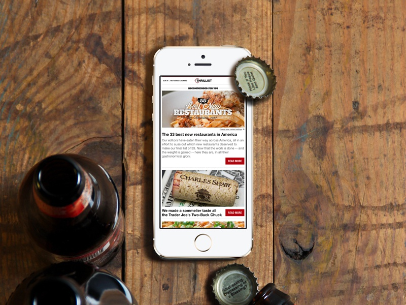 Thrillist Email Digest beer digest newsletter email scalable full width fluid responsive thrillist subscribe