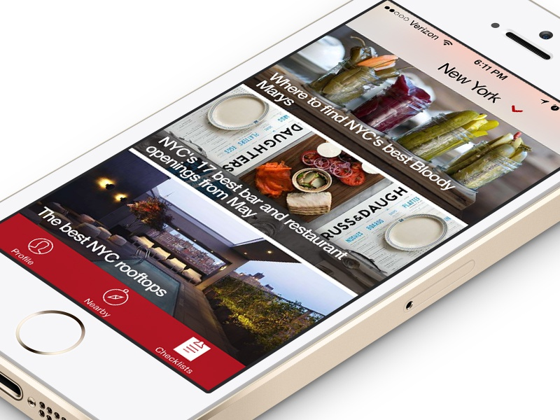 Thrillist App app ios iphone thrillist checklist mobile
