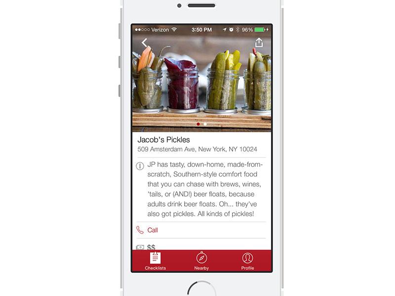 Thrillist App: Venue View iphone ios app venue thrillist ios7 tab bar restaurant