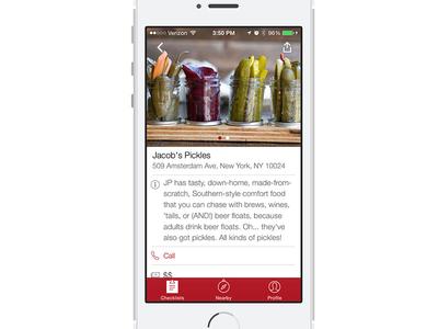 Thrillist App: Venue View