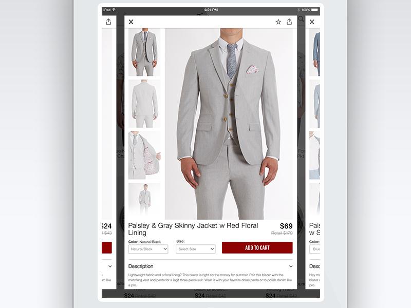 JackThreads iPad Product Details ipad ios universal product product details ecommerce clothing menswear ios7