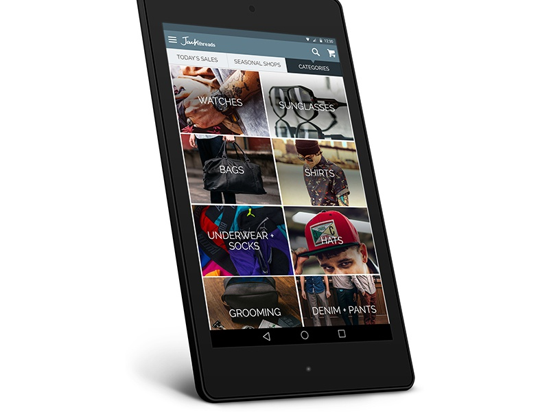 JackThreads Material Design Concept nexus 7 material design android android l ecommerce app shopping material