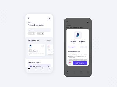 Job Search App design gradient product design uxdesign uidesign ios app design mobile app design
