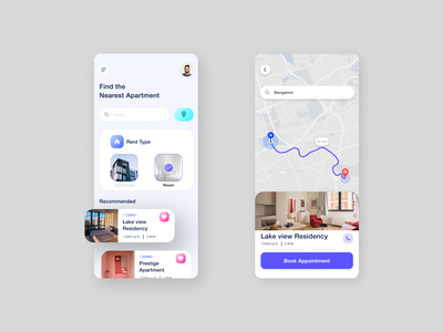 Housing App design ios gradient mobile typogaphy branding uxdesign android ui design user interface product design mobile app design