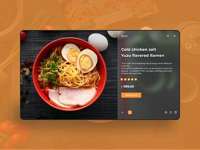 Food Restaurant Website UI branding website design web design ios ui booking app gradient android ui design user interface product design