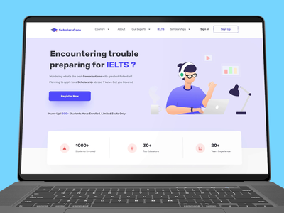 IELTS Training Page icon typography illustration vector ui webdesign branding uxdesign ui design user interface product design