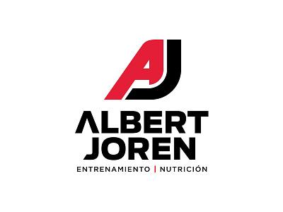Albert Joren venezuela black red identity trainer personal j a aj brand mark logo