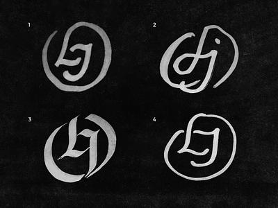 (WIP) OLJ letters monogram wip logo