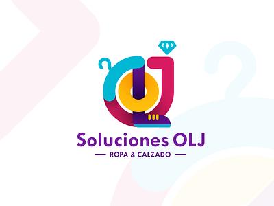 Soluciones OLJ logo clothing accesories luxury fashion colors jewelry mark olj o l j