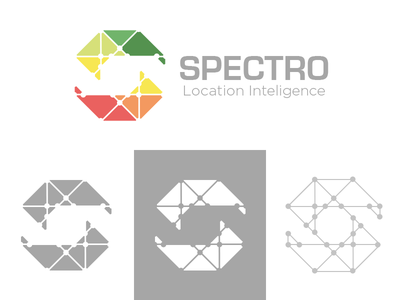 Rejected Concept for Spectro space negative technology intelligence network dots.lines connection concept rejected unused logo